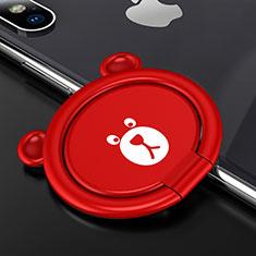 Fingerring Ständer Magnetische Smartphone Halter Halterung Universal S14 für Asus Zenfone Zoom ZX551ML Rot