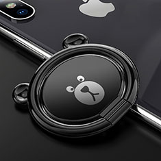 Fingerring Ständer Magnetische Smartphone Halter Halterung Universal S14 für Xiaomi Mi 9 Pro Schwarz