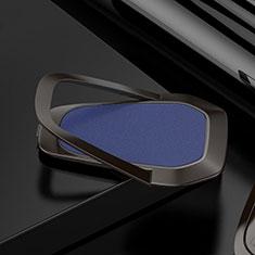 Fingerring Ständer Magnetische Smartphone Halter Halterung Universal S21 für Huawei Y5 2018 Blau