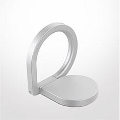 Fingerring Ständer Magnetische Smartphone Halter Halterung Universal Z08 für Google Pixel 3 Silber