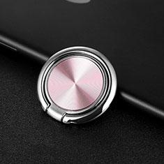 Fingerring Ständer Magnetische Smartphone Halter Halterung Universal Z11 für LG L Bello 2 Rosegold