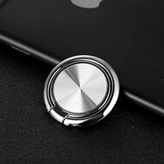 Fingerring Ständer Magnetische Smartphone Halter Halterung Universal Z11 für Google Pixel 3 Silber