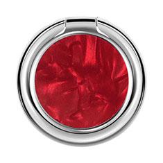 Fingerring Ständer Magnetische Smartphone Halter Halterung Universal Z12 für LG L Bello 2 Rot