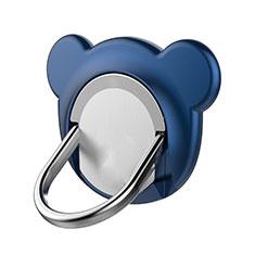 Fingerring Ständer Magnetische Smartphone Halter Halterung Universal Z14 für LG L Bello 2 Blau
