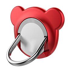 Fingerring Ständer Magnetische Smartphone Halter Halterung Universal Z14 für LG L Bello 2 Rot