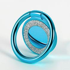 Fingerring Ständer Magnetische Smartphone Halter Halterung Universal Z15 für LG L Bello 2 Hellblau