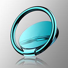 Fingerring Ständer Magnetische Smartphone Halter Halterung Universal Z16 für LG L Bello 2 Hellblau