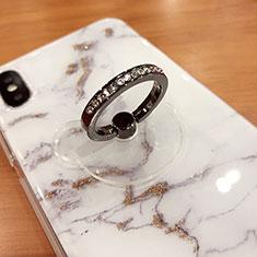 Fingerring Ständer Smartphone Halter Halterung Universal S15 für Asus Zenfone Zoom ZX551ML Grau