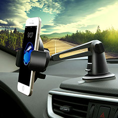 Halter Halterungung Auto Halter Halterung Saugnapf Universal H16 für Sony Xperia XA2 Plus Schwarz