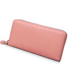 Handtasche Clutch Handbag Leder Lichee Pattern Universal H25 für Huawei Mate 30 Rosa