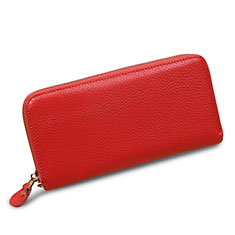 Handtasche Clutch Handbag Leder Lichee Pattern Universal H28 für Huawei Mate 30 Rosa