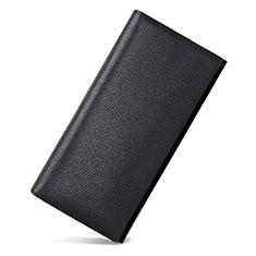 Handtasche Clutch Handbag Leder Lichee Pattern Universal für Nokia 8110 2018 Schwarz