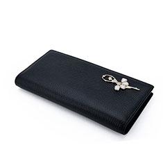 Handtasche Clutch Handbag Schutzhülle Leder Dancing Girl Universal für Sony Xperia L2 Schwarz