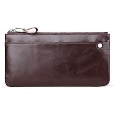 Handtasche Clutch Handbag Schutzhülle Leder Universal H08 Braun