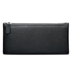 Handtasche Clutch Handbag Schutzhülle Leder Universal H17 für Huawei Mate 30 Schwarz