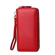 Handtasche Clutch Handbag Schutzhülle Leder Universal H21 für Google Pixel 3a XL Rot