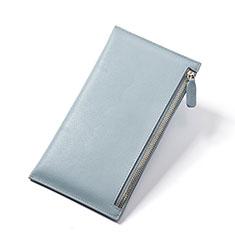 Handtasche Clutch Handbag Schutzhülle Leder Universal H23 für Huawei Mate 30 Hellblau