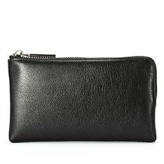 Handtasche Clutch Handbag Schutzhülle Leder Universal H27 für Nokia 8110 2018 Schwarz