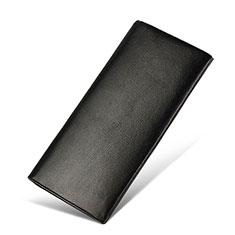 Handtasche Clutch Handbag Schutzhülle Leder Universal H31 für Nokia 8110 2018 Schwarz