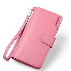 Handtasche Clutch Handbag Schutzhülle Leder Universal H38 für Huawei Mate 30 Rosa