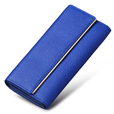 Handtasche Clutch Handbag Schutzhülle Leder Universal K01 für Motorola Moto G9 Plus Blau