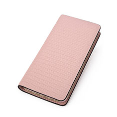 Handtasche Clutch Handbag Schutzhülle Leder Universal K10 für Xiaomi Mi 10 Ultra Rosa