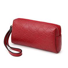 Handtasche Clutch Handbag Schutzhülle Leder Universal K11 für Motorola Moto G9 Plus Rot