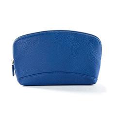 Handtasche Clutch Handbag Schutzhülle Leder Universal K14 für Motorola Moto G9 Plus Blau