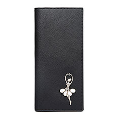 Handtasche Clutch Handbag Tasche Leder Dancing Girl Universal B01 für Sony Xperia L2 Schwarz