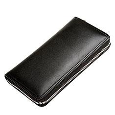 Handtasche Clutch Handbag Tasche Leder Universal H12 für Nokia 8110 2018 Schwarz