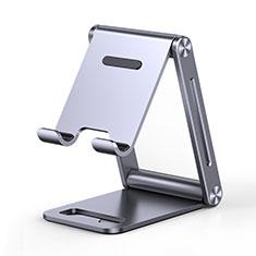 Handy Ständer Smartphone Halter Halterung Stand Universal K03 für Nokia 6.1 Plus Grau