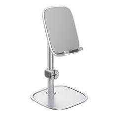 Handy Ständer Smartphone Halter Halterung Stand Universal K10 für Nokia 6.1 Plus Silber