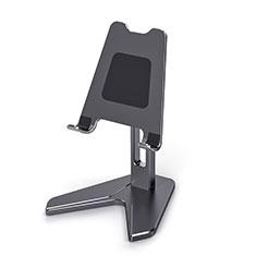 Handy Ständer Smartphone Halter Halterung Stand Universal K12 für Nokia X3 Schwarz