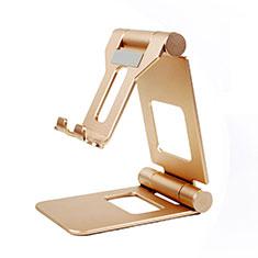 Handy Ständer Smartphone Halter Halterung Stand Universal K19 für Nokia 6.1 Plus Gold