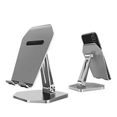 Handy Ständer Smartphone Halter Halterung Stand Universal K22 für Nokia 6.1 Plus Silber