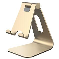 Handy Ständer Smartphone Halter Halterung Stand Universal K24 für Nokia 6.1 Plus Gold