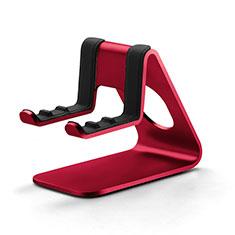 Handy Ständer Smartphone Halter Halterung Stand Universal K25 für Nokia 6.1 Plus Rot