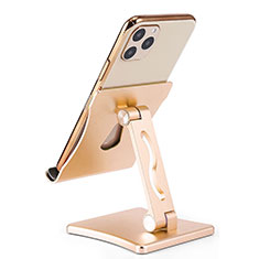 Handy Ständer Smartphone Halter Halterung Stand Universal K32 Gold