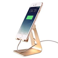 Handy Ständer Smartphone Halter Halterung Stand Universal T08 Gold