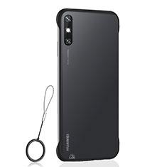 Handyhülle Hülle Crystal Hartschalen Tasche Schutzhülle H01 für Huawei Enjoy 10e Schwarz