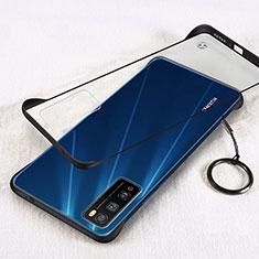 Handyhülle Hülle Crystal Hartschalen Tasche Schutzhülle H01 für Huawei Enjoy Z 5G Schwarz