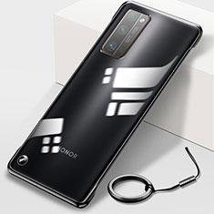 Handyhülle Hülle Crystal Hartschalen Tasche Schutzhülle H01 für Huawei Honor 30 Pro+ Plus Schwarz