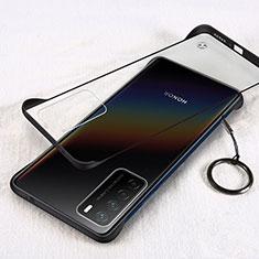 Handyhülle Hülle Crystal Hartschalen Tasche Schutzhülle H01 für Huawei Honor Play4 5G Schwarz