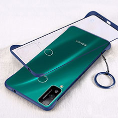 Handyhülle Hülle Crystal Hartschalen Tasche Schutzhülle H01 für Huawei Honor Play4T Blau