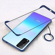 Handyhülle Hülle Crystal Hartschalen Tasche Schutzhülle H01 für Huawei Honor Play4T Pro Blau