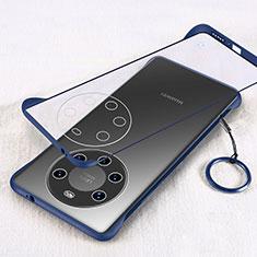 Handyhülle Hülle Crystal Hartschalen Tasche Schutzhülle H01 für Huawei Mate 40 Pro+ Plus Blau