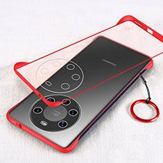 Handyhülle Hülle Crystal Hartschalen Tasche Schutzhülle H01 für Huawei Mate 40 Pro+ Plus Rot