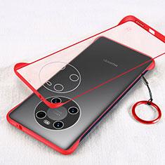 Handyhülle Hülle Crystal Hartschalen Tasche Schutzhülle H01 für Huawei Mate 40 Rot