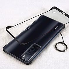 Handyhülle Hülle Crystal Hartschalen Tasche Schutzhülle H01 für Huawei Nova 7 Pro 5G Schwarz
