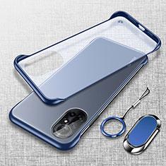 Handyhülle Hülle Crystal Hartschalen Tasche Schutzhülle H01 für Huawei Nova 8 5G Blau